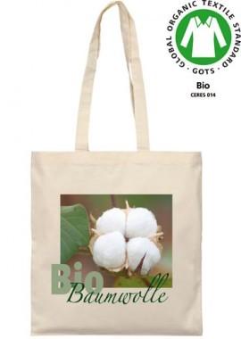 Bio-Baumwoll-Tasche, lange Henkel