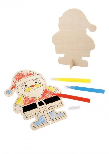 Bemalbarer Weihnachtsmann-Aufsteller