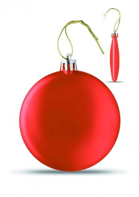 Flache Weihnachtskugel