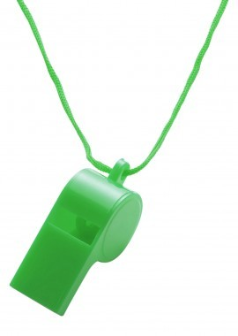 Plastik-Pfeife mit Halskordel