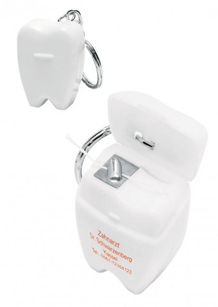 Zahnseide-Schlüsselanhänger