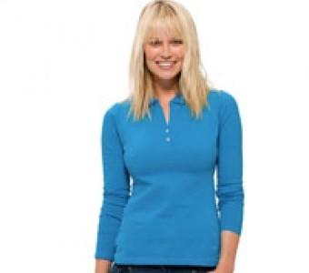 Polo-Shirts Damen Langarm