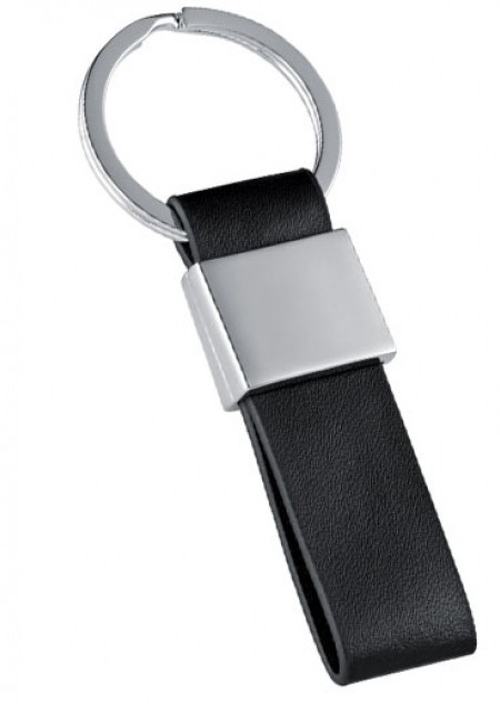 Schlüsselanhänger mit Kunstleder-Bändchen
