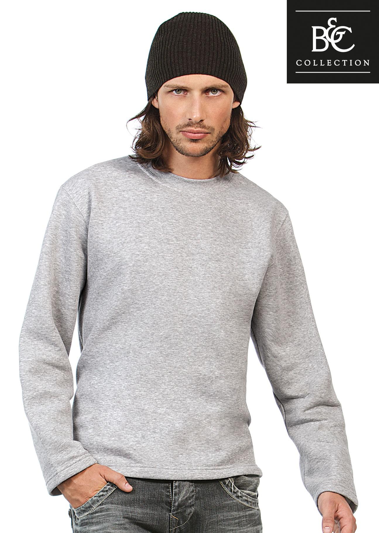 39f0a9040fce28 B&C, Kasten-Sweatshirt Open Hem, günstig bedrucken « Merkur Werbemittel
