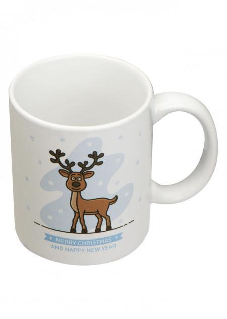 Kaffeetasse mit Weihnachtsmotiv, 300 ml