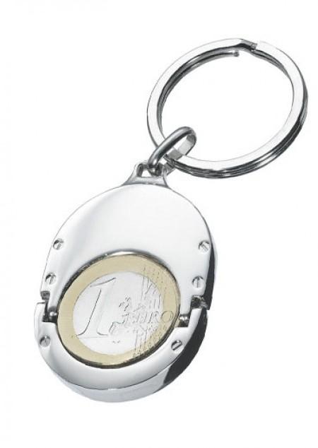 Metall-Schlüsselanhänger mit Chiphalter