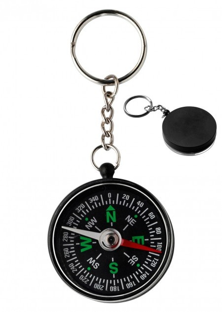 Kompass 'Point' aus Kunststoff mit Schlüsselkette