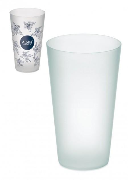 Gefrosteter PP-Becher, 550 ml