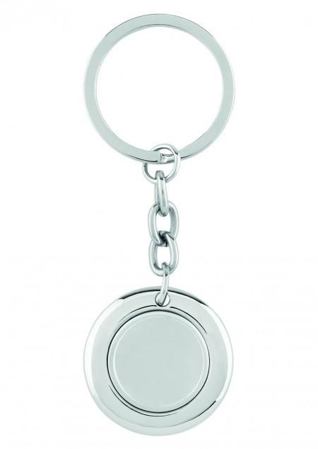 Schlüsselring mit Münzhalter