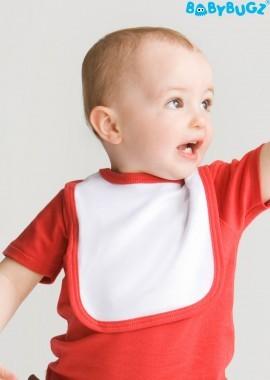 Baby Lätzchen mit Kontrastpaspelierung