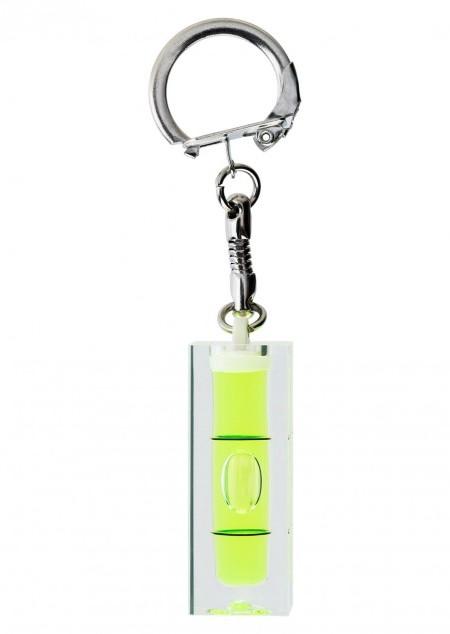 Mini-Wasserwaage aus Kunststoff mit Schlüsselkette
