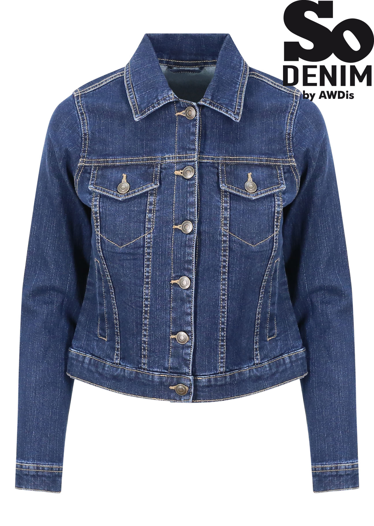 online store ff417 568c3 So Denim, Damen Jeansjacke Olivia, günstig besticken ...