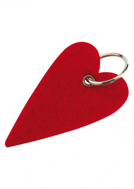 Filz-Schüsselanhänger Herz