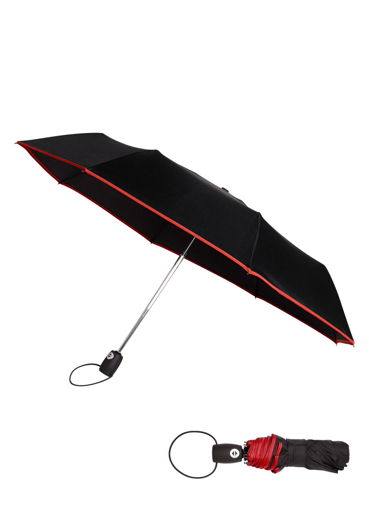 Ferraghini Automatik-Taschenregenschirm schwarz Farbe