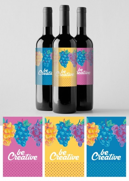 Weinflaschen-Etikett 10er-Set inkluisve Druck