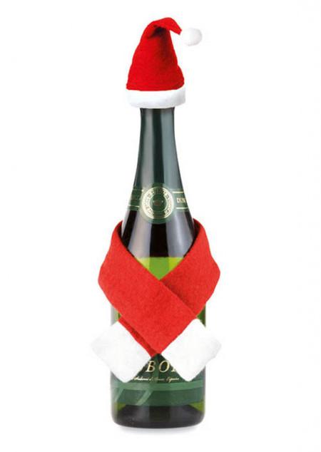 Weihnachtliche Flaschendekoration