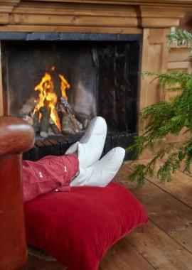 Hausschuhe 'Big feet' aus Baumwolle