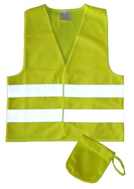 Kinder Sicherheits-Warnweste mit Tasche