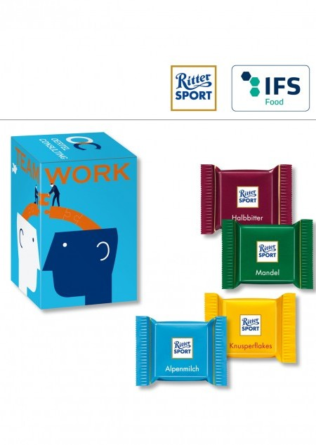 Mini Promo-Tower mit Ritter Sport Quadretties