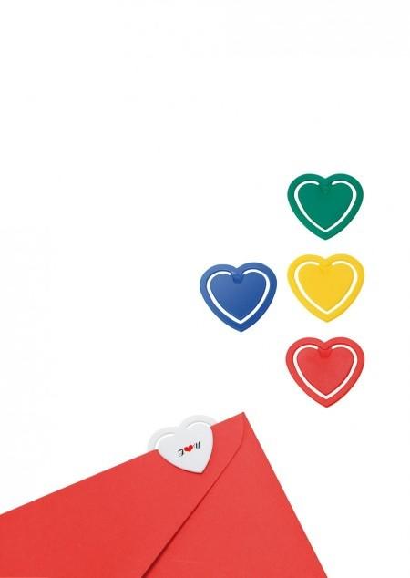 Zettelklammer in Herzform Mini
