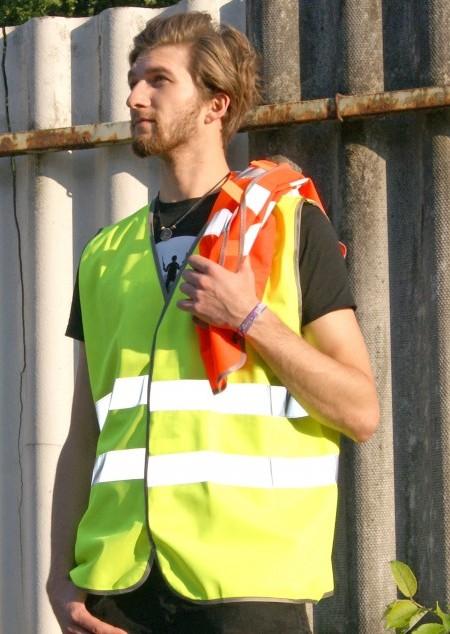 Sicherheits-Warnweste mit Tasche