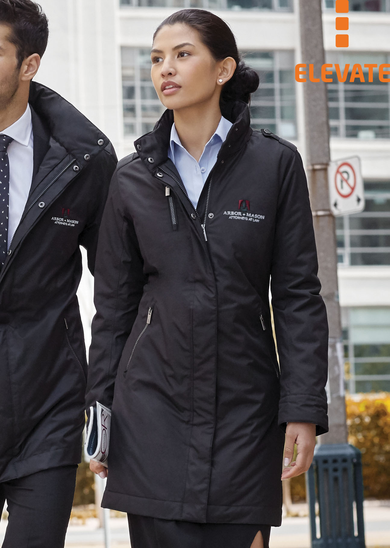 Merkur Damen Werbemittel Besticken Mantel Elevate Business « OwgxqZ