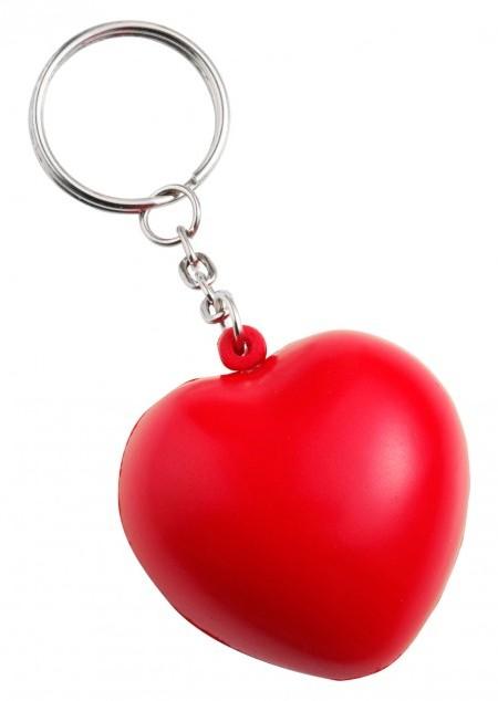 Anti-Stress Herz mit Schlüsselkette