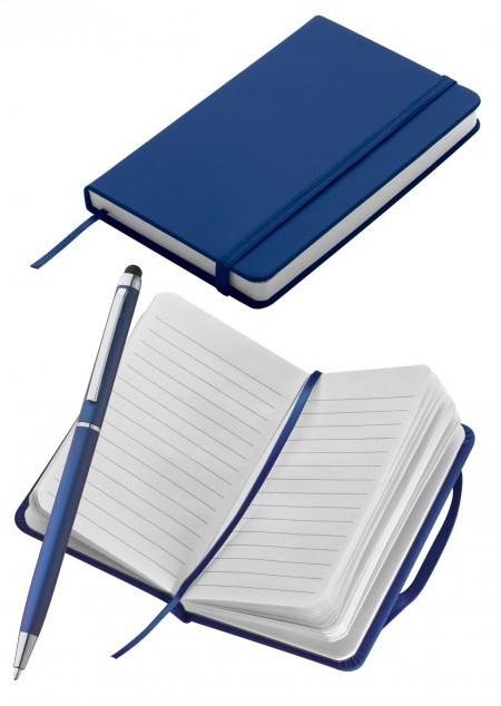 Set aus Notizbuch DIN-A6 und Kugelschreiber