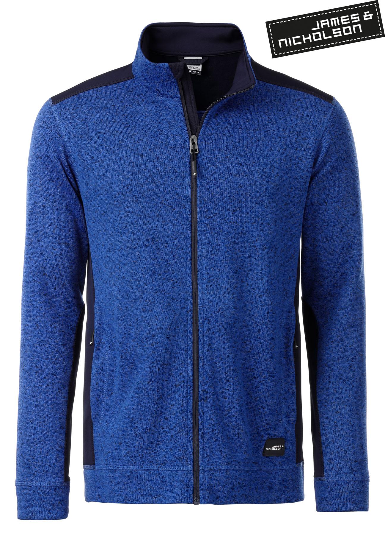 James & Nicholson, Workwear Fleecejacke, besticken « Merkur