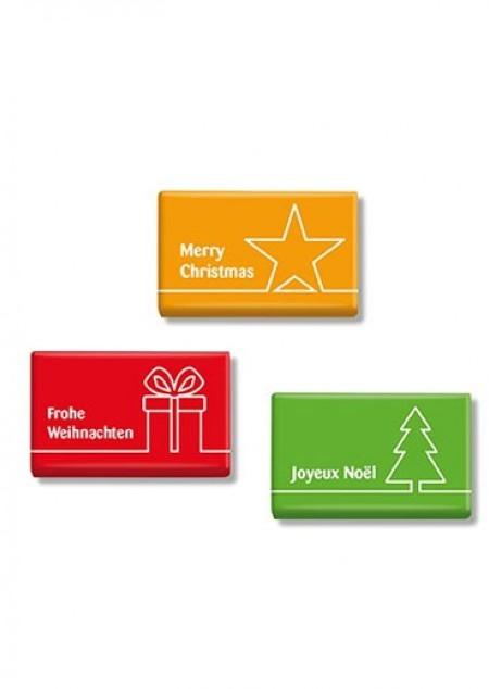Mini-Schokoladen-Täfelchen Weihnachten