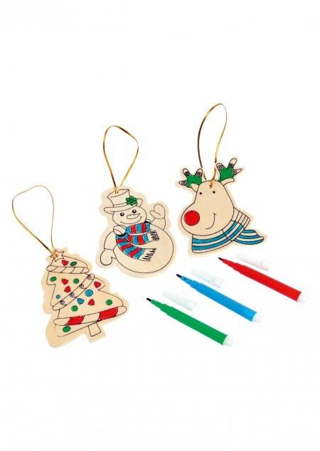 Weihnachtsanhänger zum Bemalen