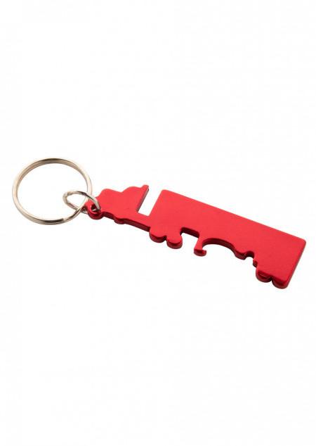 Schlüsselanhänger mit Flaschenöffner in LKW
