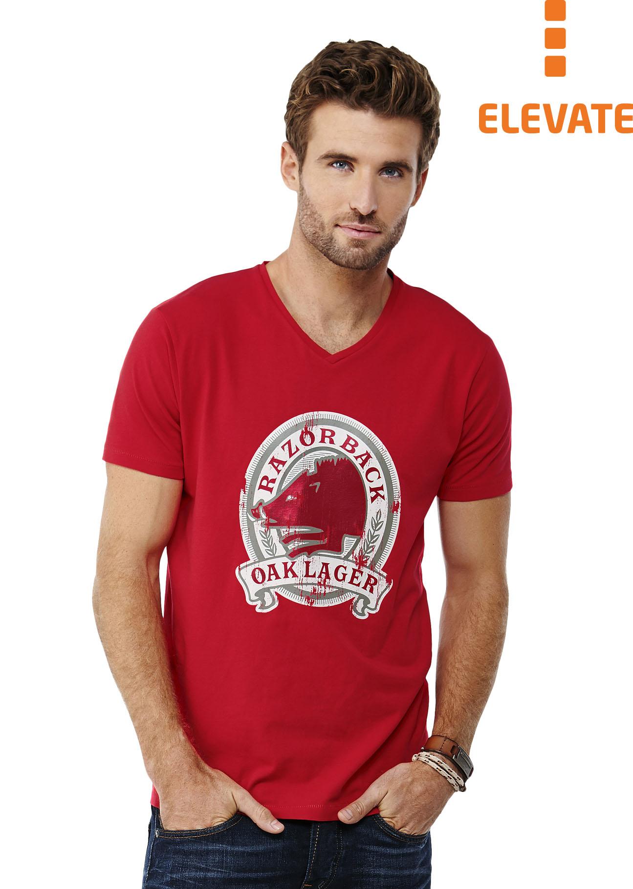 online store 3f971 60e20 Elevate, Herren-T-Shirt mit V-Ausschnitt, günstig bedrucken ...