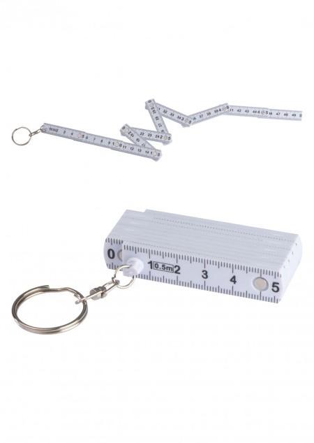 Schlüsselanhänger mit ausklappbarem Zollstock