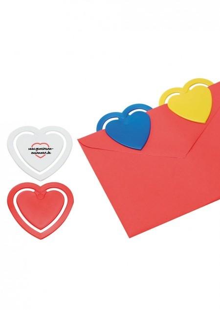 Zettelklammer in Herzform