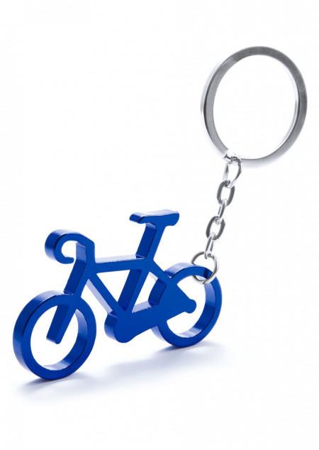Schlüsselanhänger mit Flaschenöffner in Radform
