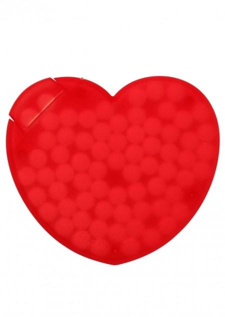 Pfefferminzbonbons 'Heart' aus Kunststoff