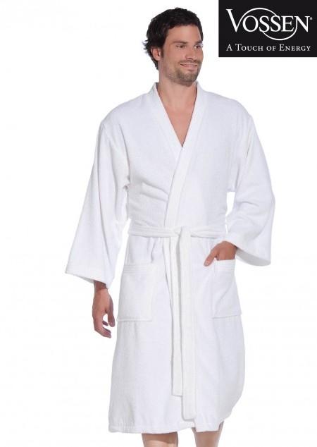 Bademantel mit Kimonokragen