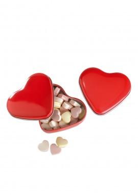 Herzdose mit Herz-Bonbons