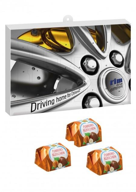 Premium Präsent Adventskalender mit Ferrero Küsschen