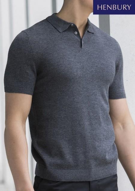 Herren Strick Poloshirt