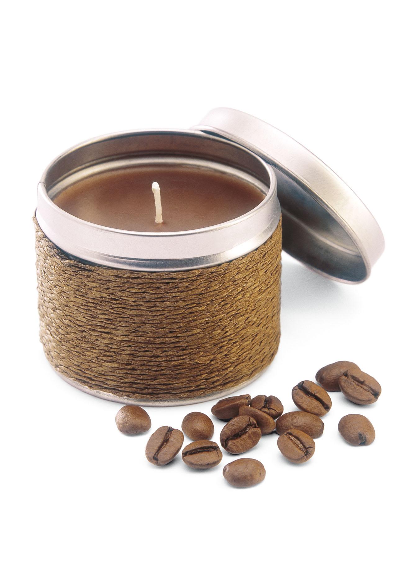 Favorit Kerze mit Kaffeeduft « Merkur Werbemittel HB01