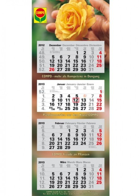 4-Monatsplaner Plus Eins