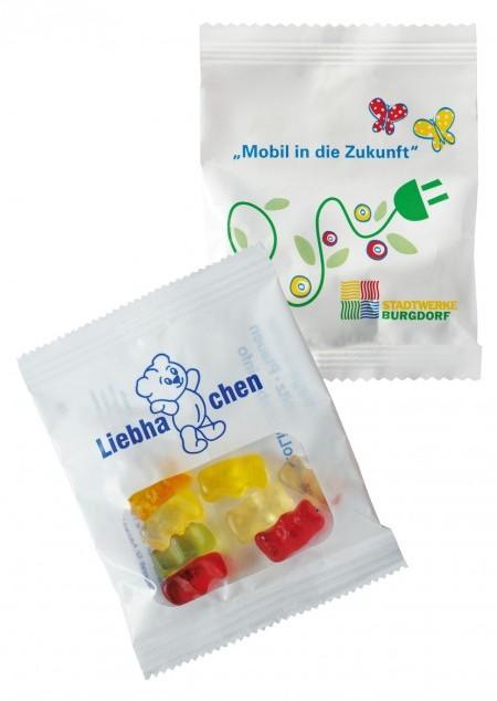 Fruchtsaftbärchen 25% Fruchtanteil im Werbetütchen, 15g