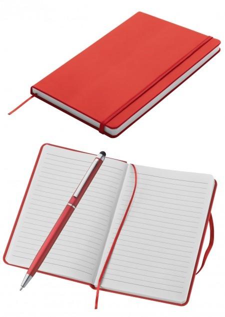 Set aus Notizbuch DIN-A5 und Kugelschreiber