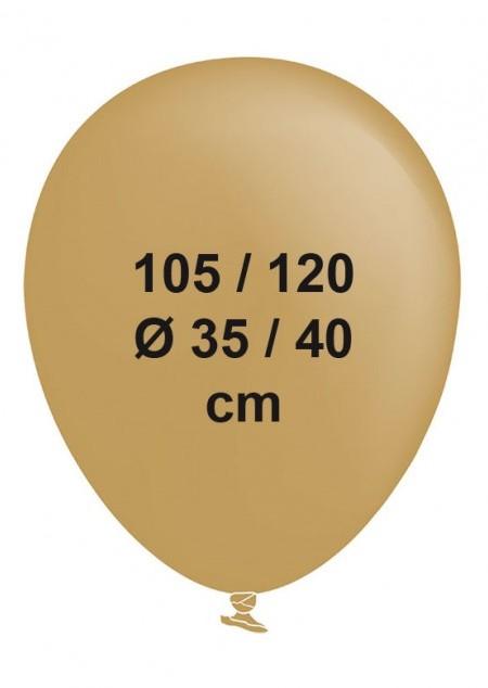 Standardballon Groß Metallic