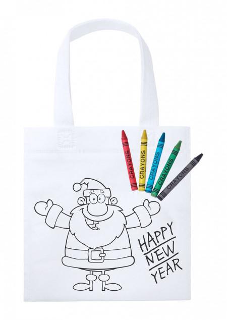 Bemalbare Tasche mit Weihnachtsmotiv