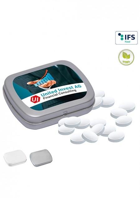 Mini-Klappdose mit Cool Ice zuckerfreien Pastillen