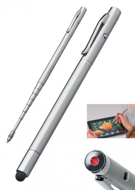 Teleskop-Kugelschreiber mit Laserpointer
