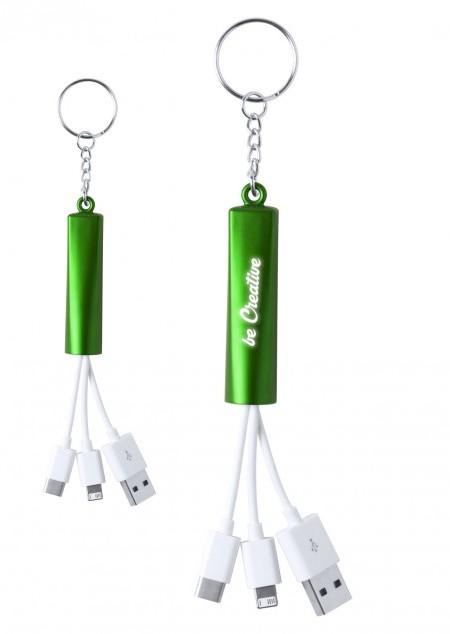 Schlüsselanhänger mit diversen Ladekabel